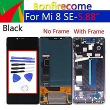 """5.88 """"العرض الأصلي ل Xiao mi mi 8 SE mi 8 SE LCD محول الأرقام بشاشة تعمل بلمس مع استبدال الإطار ل Xiao mi mi 8 SE الجمعية"""