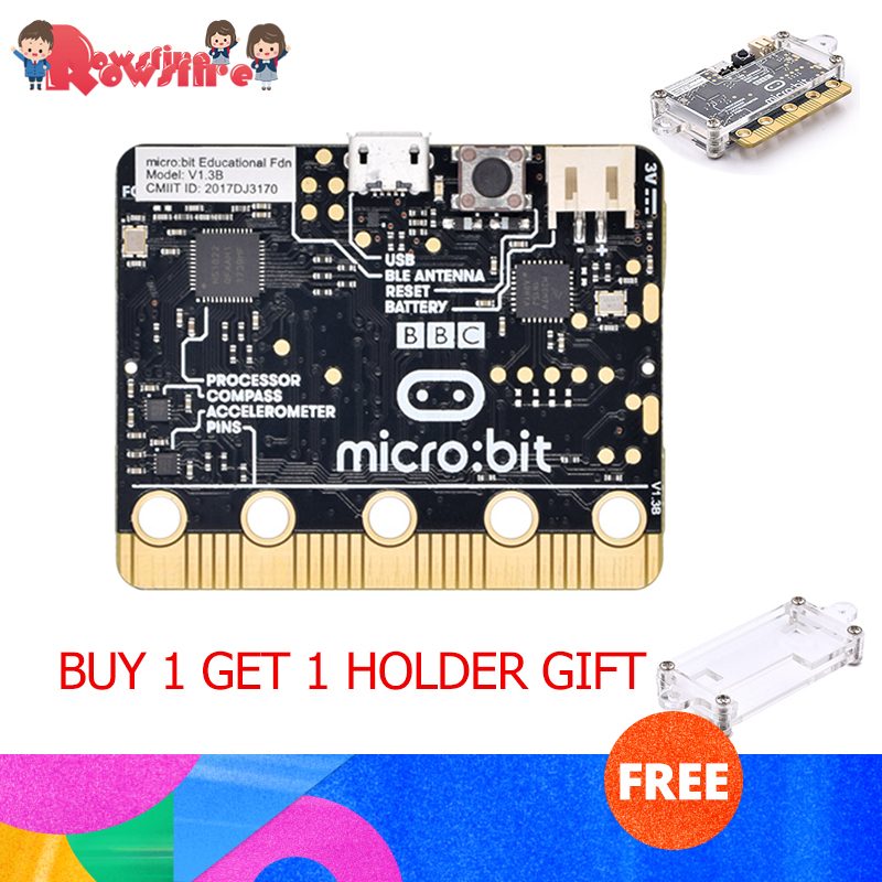 High Recommend 1 Pcs DIY England BBC Microbit Go NRF51822 Development Board Python Beginners Graphical Programming