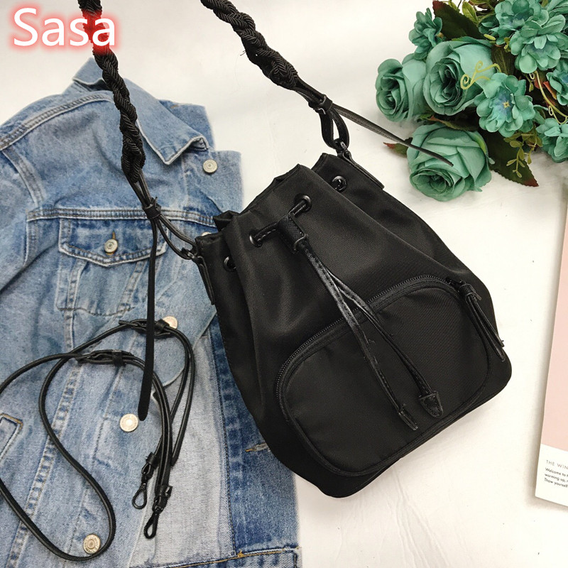 Sasa 2020 String Bucket Bag Luxury Totes Shoudler Bags 2straps For Lady Present For Sister