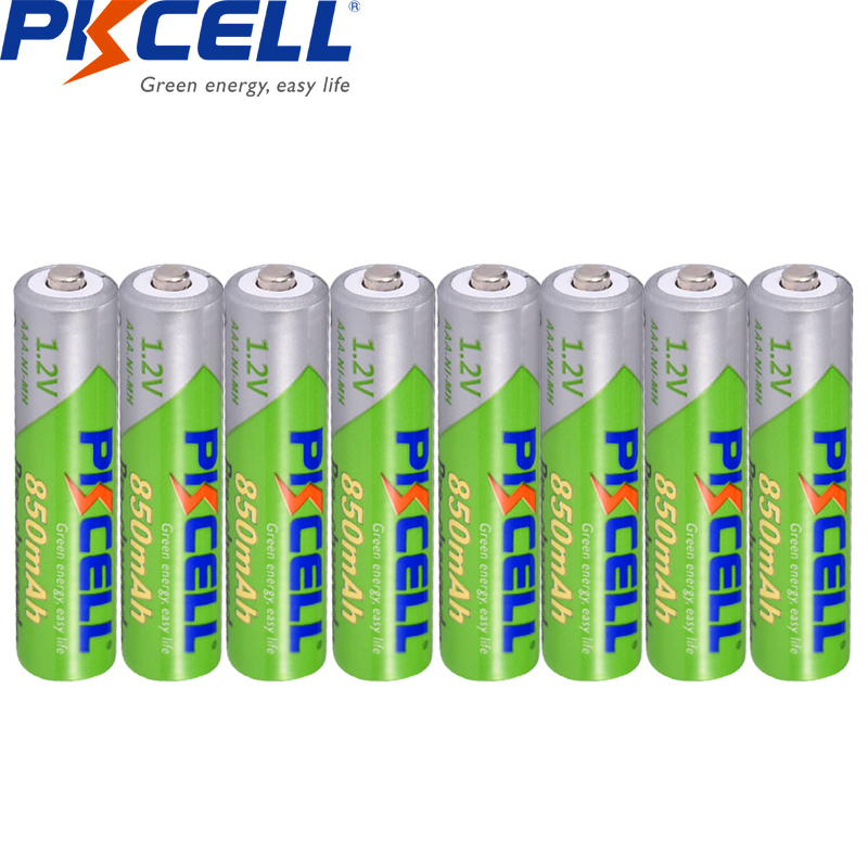 8Pcs*PKCELL Pre-charged NIMH 1.2V 850mAh AAA Rechargeable Battery Cycles1200times