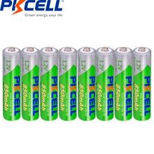 8Pcs*PKCELL 1.2V AAA Battery 850mAh NI MH 3A Rechargeable Batteries Low self discharge precharge recharge pilas batteries aaa