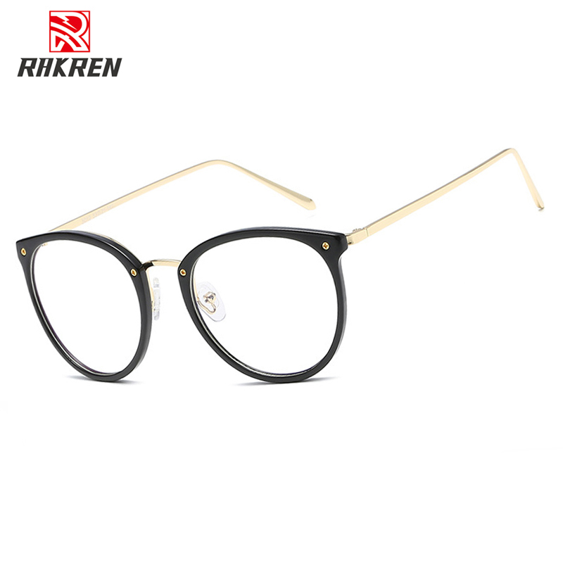 YT035 Fashion Eyeglasses Frames Big Prescription Glass Frame Women Round Glasses Frame Brand Myopia Optical Frame Armacao image
