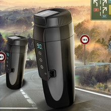 350ML Auto car Heating Cup Adjustable Temperature Car Hot water Mug Electric Kettle Boiling Vehicle Thermos car accessories platinum fixing electric heating cup 350ml 100 degree heating and heating kettle heating water cup automobile supplies 12v 24v