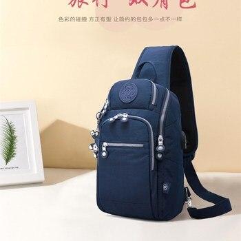 Mens Chest Bags Fashion Zipper Shoulder Bag Male Multifunction Oxford Cloth Wear-resistant Mobile Phone