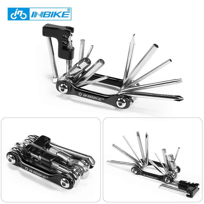 INBIKE Sepeda Multi Alat Alat Perbaikan Sepeda Hex Berbicara Wrench Obeng 10 In 1 Kit Set Folding Jalan MTB Sepeda bersepeda Alat