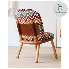 Louis Fashion Chaise Lounge sofá Vintage de madera maciza de cerezo japonés de madera antigua reclinable