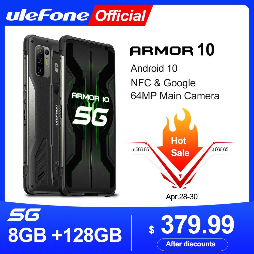 Ulefone Armor 10 5G прочный мобильный телефон Android 10 8 ГБ + 128 ГБ Водонепроницаемый смартфон/IP68 IP69K/6,67