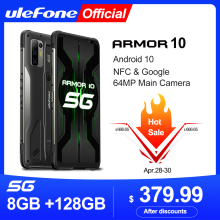 Ulefone Dimensity 800 Mt6873 Armor 10 5G 128GB GSM/LTE/WCDMA/.. Nfc Adaptive Fast Charge