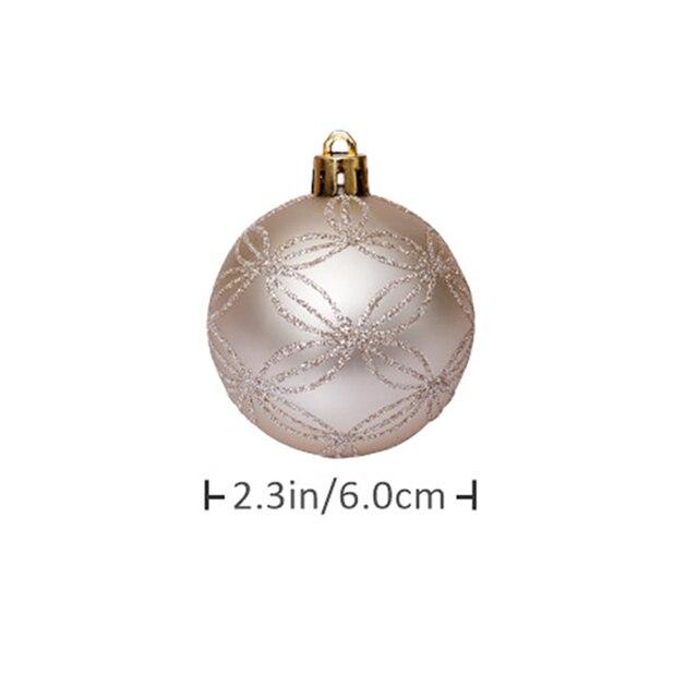 30 шт 6 см красочные блестящие рождественские шары 2020 натальные фотография