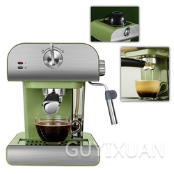 High quality 1.5 L Italian espresso machine home small semi-automatic drawing milk foam machine integrated  steam coffee machine