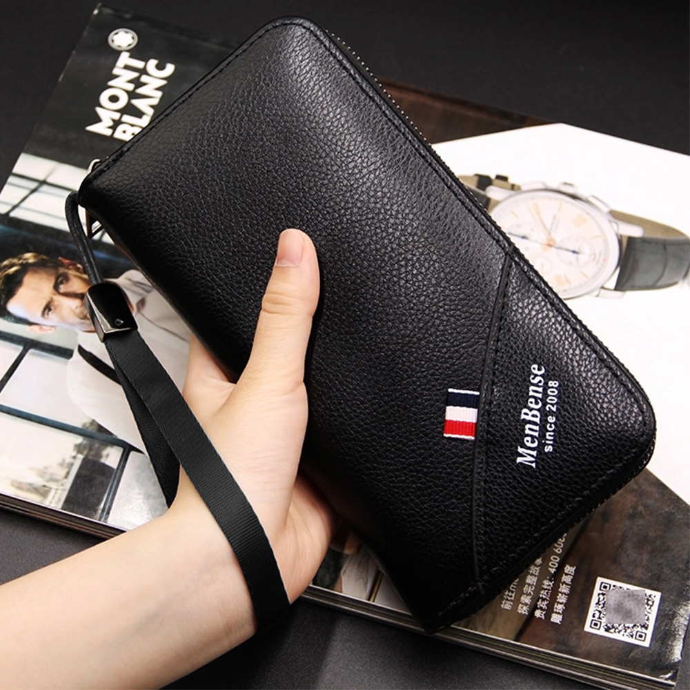 2019 Famous Brand Men Wallets Leather Coin Purse Male Clutch Long Business Walet Removable Wristband Magic Mobile Phone Bag