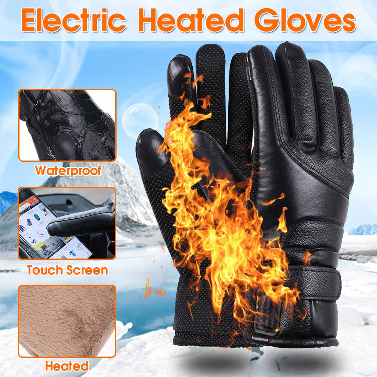 5V 5.5W Electric Heating Gloves Powered Heated Gloves For Men And Women Winter Outdoor Camping Hiking Hunting Ski Gloves