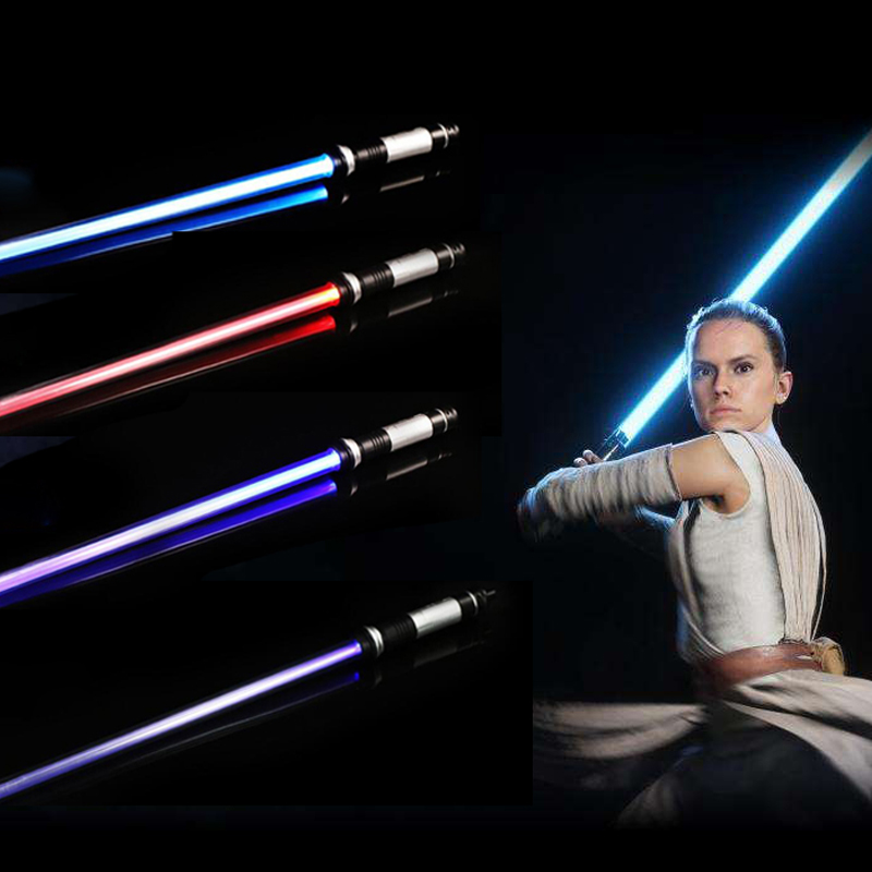 2PCS Double Star Wars Light Saber Sword Toys With Sound Laser Lightsaber Darth Vader Jedi Rey Luke Skywalker Light Saber Toys