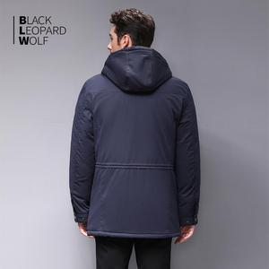 Image 4 - Blackleopardwolf 2019 winter jacket men fashion coat thick Alaska parka men  Windproof Detachable cotton outwear  BL 6607