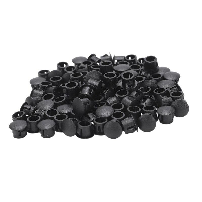 ELEG-100x 8mm Plastic Hole Plugs Rubber Stopper Plugs Plug
