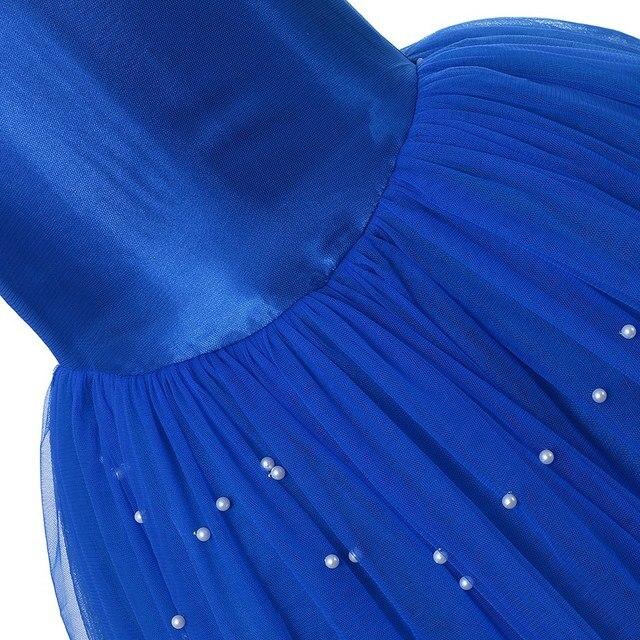 VOGUEON Cenerentola Principessa Costume per la Ragazza di Spettacolo Dellabito di Sfera Dei Bambini Perline Off Spalla Tulle Dress Up Halloween Vestiti Di Compleanno