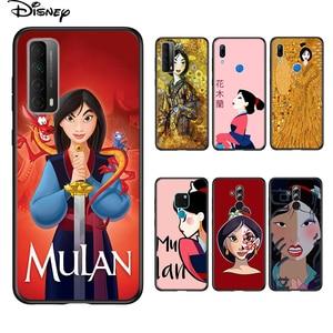 Image 1 - Soft Cover Disney Mulan Princess For Huawei P Smart 2021 2020 Z S Mate 40 RS 30 20 20X 10 Pro Plus Lite 2019 Phone Case