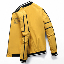 New Men #8217 s Bomber Zipper Jacket for men brand clothing casual mens jacket coat printed quality outerwear male black 0625 cheap JUNGLE ZONE Thin (Summer) Pockets Loose JUNGLE ZONE 0625 Polyester Acetate Solid MANDARIN COLLAR REGULAR NONE Polyester Nylon