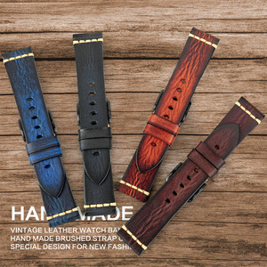 Image 2 - MAIKES Handmade Watch Band Cow Leather Watch Strap Vintage Italian Calf Leather Watchband For Panerai Omega SEIKO CITIZEN