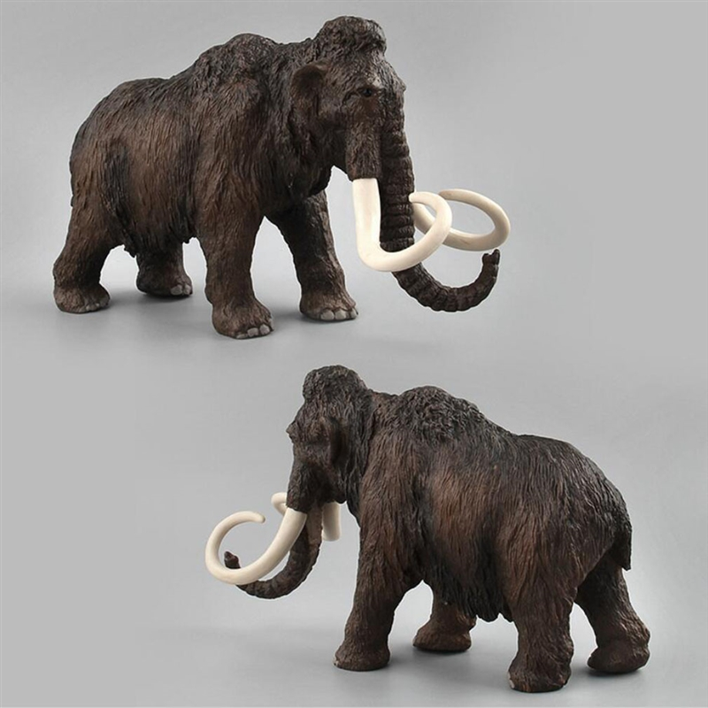 Simulated Figures Toys Animal Mammoth Toy Model Family Of Three Educational Toys For Children Kids Home Decor Figurine Toy Gift