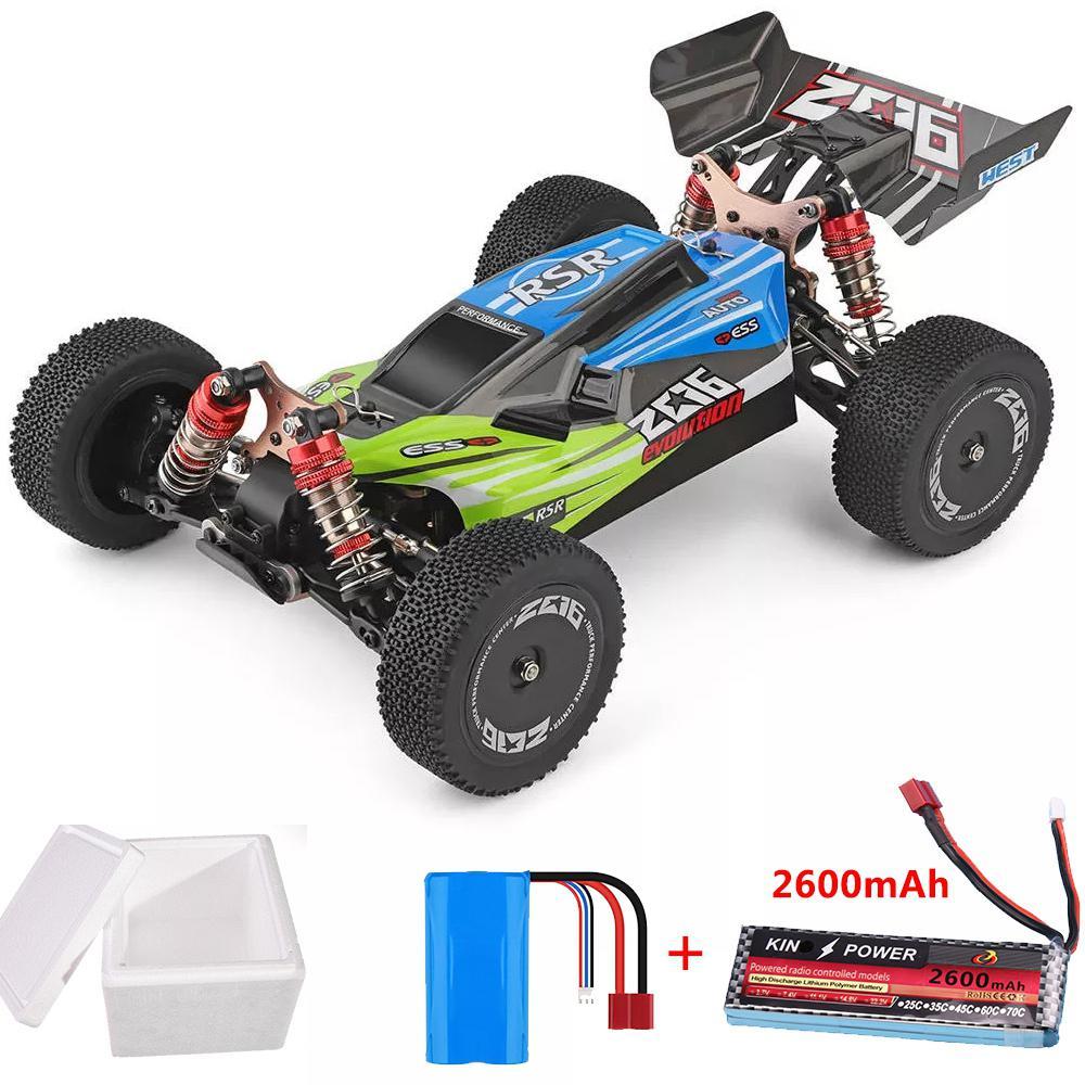 Wltoys 144001 1/14 2.4G 4WD High Speed Racing RC Car Vehicle Models 60km/h 7.4V 2600mAh Battery