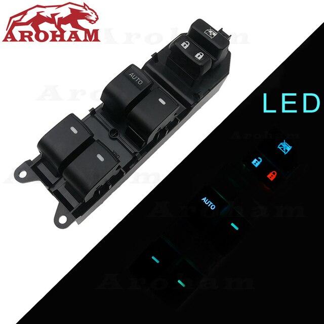 Lighted Power Window Switch for Toyota Yaris Camry Tacoma Lexus Highlander Land Cruiser Venza rav4 2006 2015 84820 06100 LED