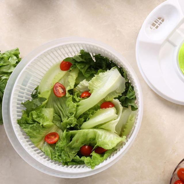 Big Capacity Salad Spinner Lettuce Greens Washer Dryer Drain Crisper Strainer Washing Drying Leafy Kitchen Vegetables Salad Tool
