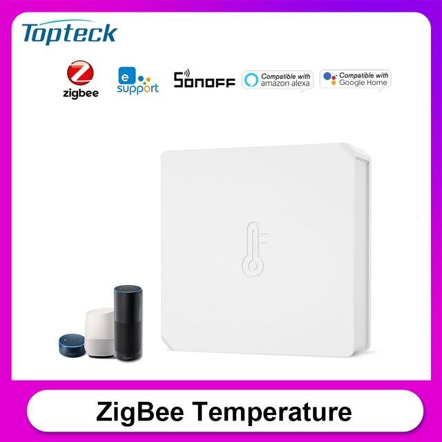سونوف SNZB 02 زيجبي استشعار درجة الحرارة والرطوبة الوقت الحقيقي إخطار البطارية المنخفضة يعمل مع سونوف زيجبي جسر إويلينك