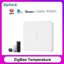 SONOFF SNZB 02 ZigBee sensore di temperatura e umidità in tempo reale notifica a batteria scarica funziona con SONOFF ZigBee Bridge eWeLink