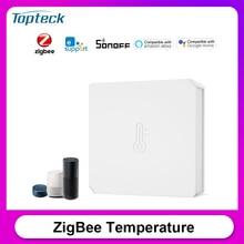 Sonoff SNZB 02 zigbee temperatura e sensor de umidade em tempo real baixa notificação de bateria funciona com sonoff zigbee ponte ewelink