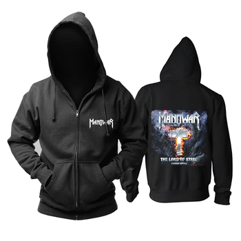 Bloodhoof Manowar Power Metal  zipper Hoodie  Asian Size