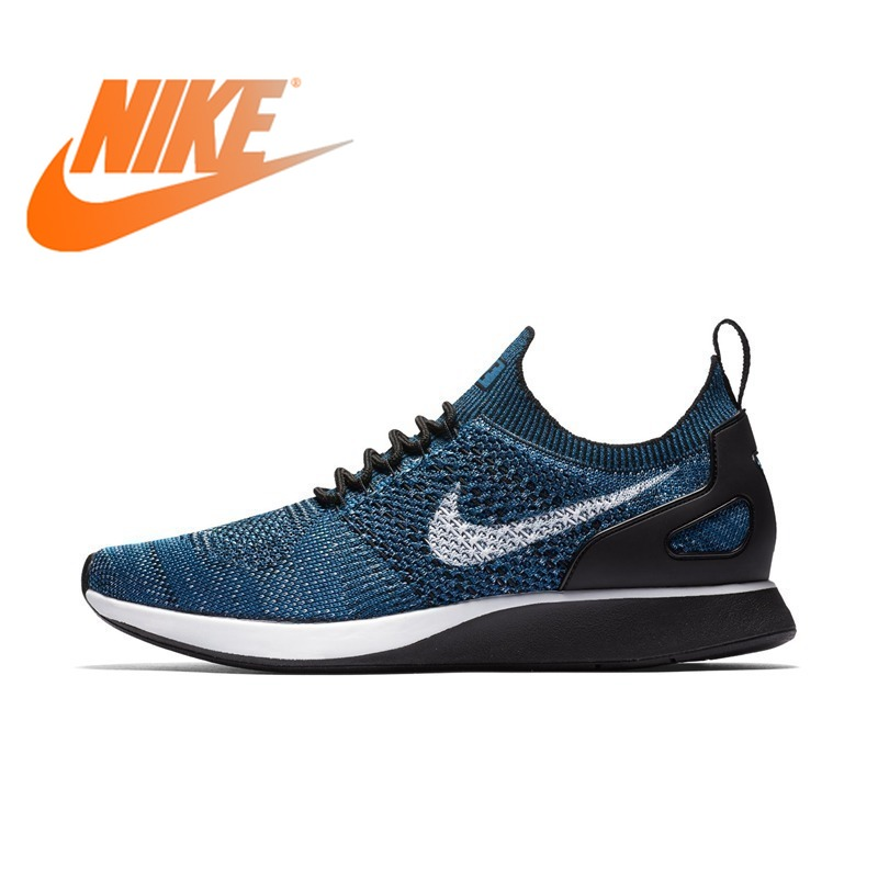 Original Authentic NIKE AIR ZOOM MARIAH FLYKNIT RACER Men's Running Shoes Lace-up Athletic Sports Outdoor Sneakers Cozy 2018