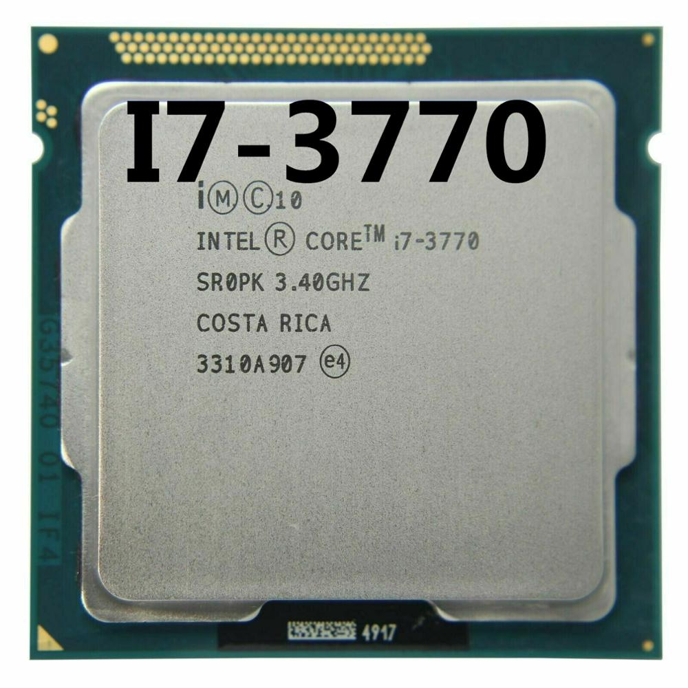 Процессор Intel Core i7-3770 I7 3770, процессор LGA 1155 100%, работающий правильно