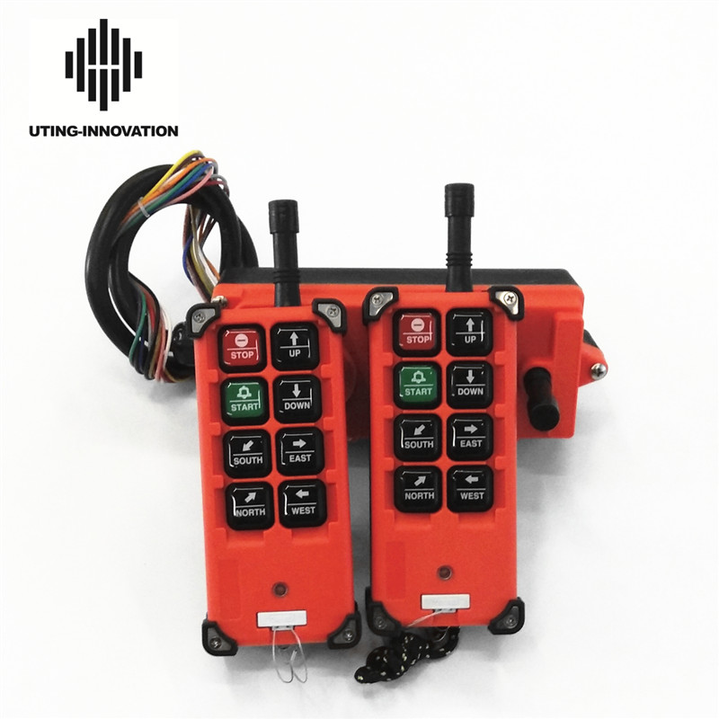 Free Shipping Universal F21e1b Industrial Wireless Radio Remote Control F21-E1B 2Transmitters 1Receiver For Overhead Crane Hoist