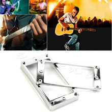 2pcs Pickup Plated Chrome Frame Mounting Rings Humbucker For LP Electric Guitar Wholesale Dropshipping(China)