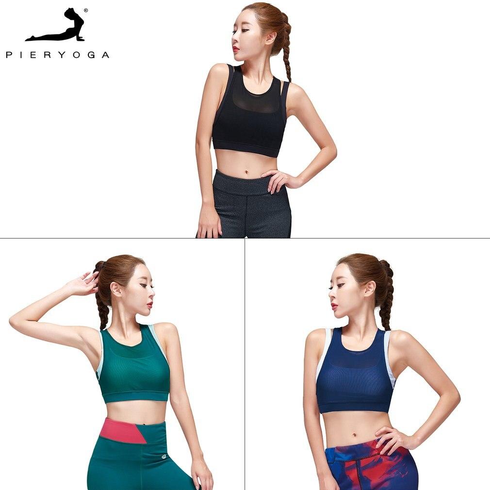 Sports Bra Hollow Back-Cross Design Fitness Yoga  Shake-proof Underwear Push Up Seamless Fitness Bra