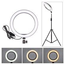 5/12W светодиодный кольцевой светильник для селфи для студийной фотосъемки светильник s заполняющий светильник Штатив для мобильного телефона живой макияж 160 мм/260 мм на выбор