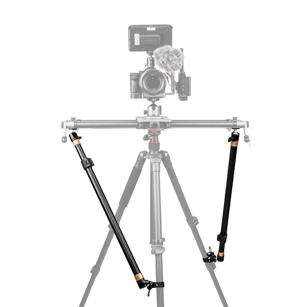YC Onion Tripod Stability Arms For Slider Camera Dolly Track Rail Increasing Stability Lightweight Adjustable Length (2 Arm In)