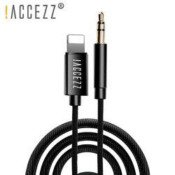 ! ACCEZZ AUX аудио кабель для 3,5 мм разъем акустический кабель для iphone 7 8 X XS MAX XR автомобильные наушники гарнитура вспомогательный конвертер аудио...