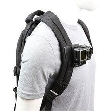Braçadeira de alça para mochilas, prendedor para alça de ombro de 360 graus para gopro hero 8 7 6 5 yi 4k sjcam h9 dji conjunto de acessórios de câmera de ação osmo