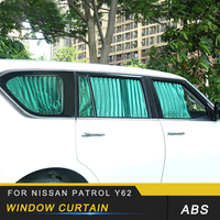 For Nissan Patrol Y62 Auto Car Styling Side Window Sunshades Rolling Cloth Curtain Trim Stickers Covers Accessories