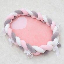Cot Bassinet Newborn-Baby Nest for Bed Travel Cribs Bumper Elliptical Braid Bowknot Soft