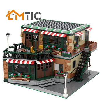in stock 2133 pcs lepin 15002 cafe corner 15019 4002pcs assembly square model building kits toys moc legoinglys 102555 10182 MOC Modular Central Cafe Coffee Shop And Bar Ctiy Street View House Model Building Blocks Diy Toys Bricks Creative Xmas Gift Kid