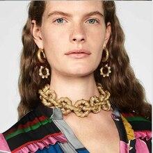 Vedawas ZA, ювелирные наборы, винтажное ожерелье, серьги, браслет, наборы, Богемия, массивные ювелирные аксессуары, Женские Ювелирные изделия