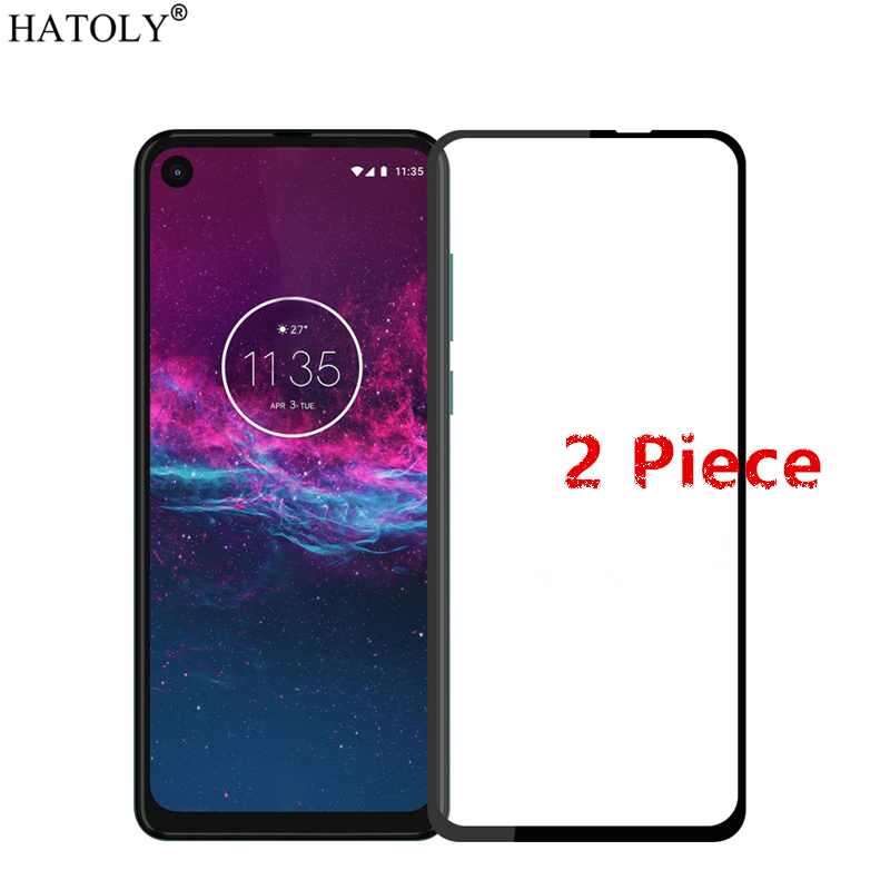 2Pcs For Motorola One Action Glass Tempered Glass for Motorola One Action Screen Protector Protective Glass for Moto One Action