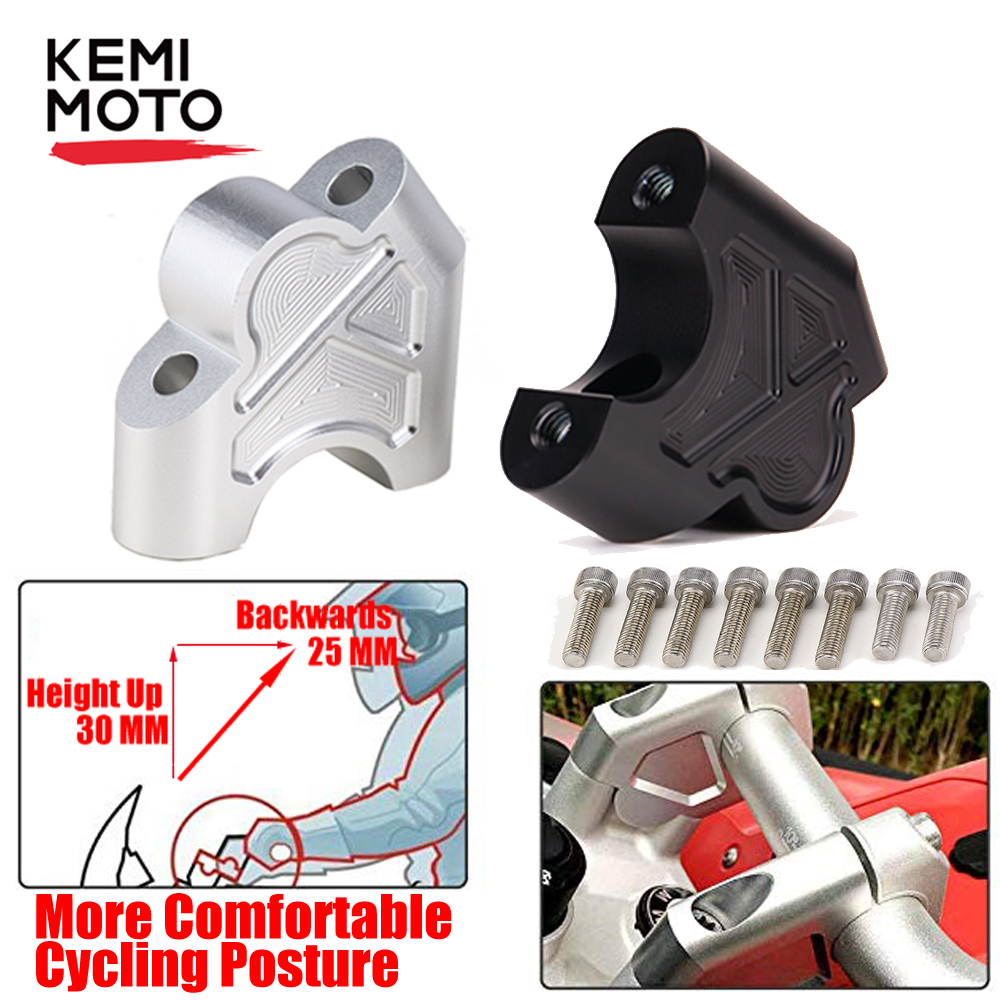 Handlebar Mount Risers Clamp for BMW R1200GS R1250GS LC Adventure Riser Handlebar for BMW GS 1200 1250GS LC Adventure S1000 XR