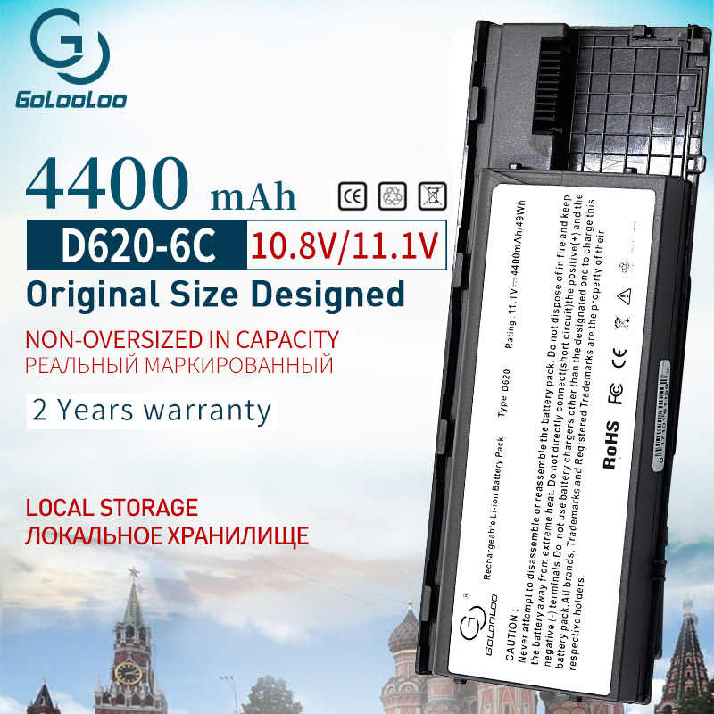 Golooloo 4400 Mah 6 Cellen Laptop Batterij Voor Dell Latitude D620 D630 D631 KD491 KD492 KD494 KD495 PC764 PC765 PD685 RD300 TC030