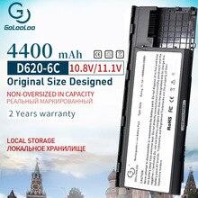 Golooloo 4400mah 6 خلايا بطارية كمبيوتر محمول لديل خط العرض D620 D630 D631 KD491 KD492 KD494 KD495 PC764 PC765 PD685 RD300 TC030