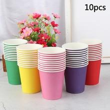 Disposable Cups Color 10pcs Kitchen-Accessories Handmade-Materials Kindergarten DIY Household
