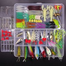 Fishing Lures Kit 234pcs Lure Baits Life-like Swimbait 3D Eyes for Bass Trout Salm in Saltwater Freshwater with